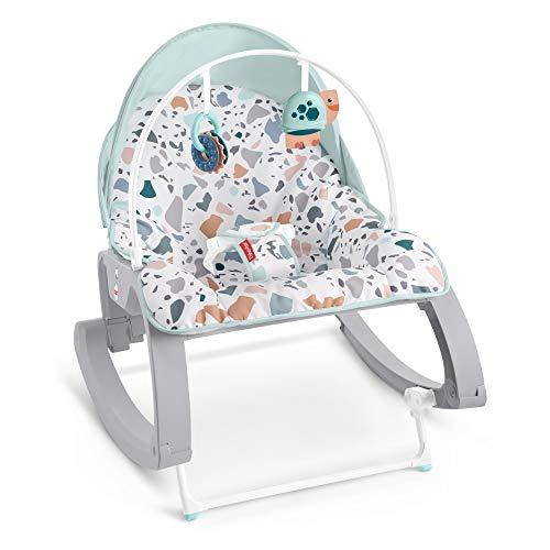 Fisher-Price Infant-to-Toddler Rocker Dondolino con Vibrazioni Calmanti Deluxe, Giocattolo per Neonati 0+ Mesi, GMD21