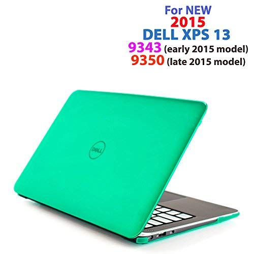 mCover Hard Shell Case for 13.3' Dell XPS 13 9343/9350/9360 model Ultrabook laptop(**Not for 2018 released XPS 13 9370**) - Green (9343/9350/9360)