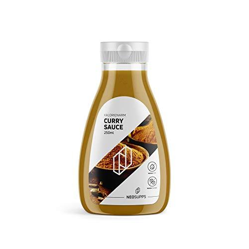 Kalorienarme Curry Sauce 250ml | Curry-Aroma | gesunde Sauce | Kalorienarm | Zuckerfrei | Fettfrei | bewusste Ernährung | Abnehmen | sportlicher Lifestyle | Grillabend, Gewicht:250ml