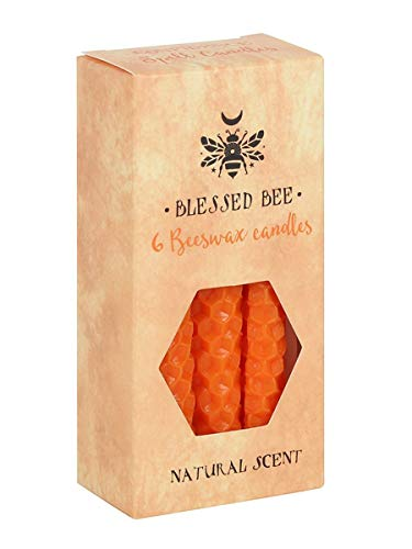 Blessed Bee Beeswax Spell Confidence & Power Candle Orange 5x11cm