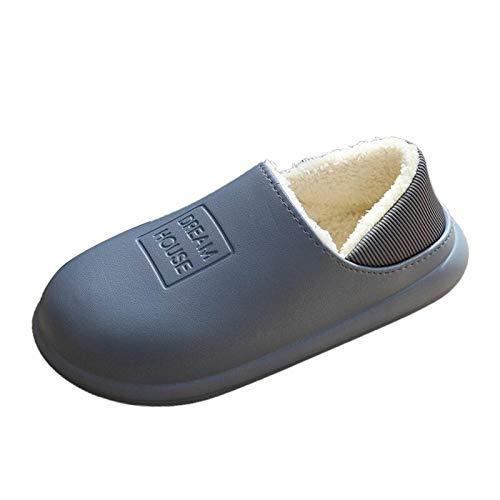 ZapatillasCasaZapatillas De Interior Impermeables De Invierno, Zapatos De Mujer Y Hombre,...
