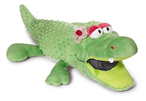 NICI 39587 - Fleecedecke mit Plüsch, Krokodil