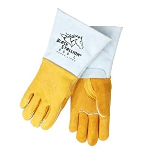 Revco Industries - Black Stallion Premium Grain Elkskin Welding Gloves - X-Large by Revco Industries