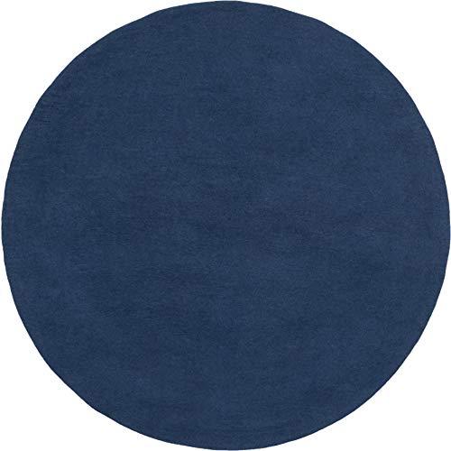 myfelt Alva - Alfombra de fieltro (250 cm, redonda), color azul oscuro