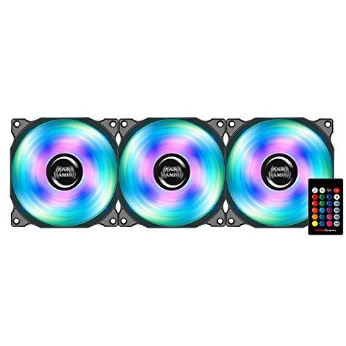 Mars Gaming MFRGBKIT, pack 3 ventiladores para PC, iluminación LED RGB, 13 aspas