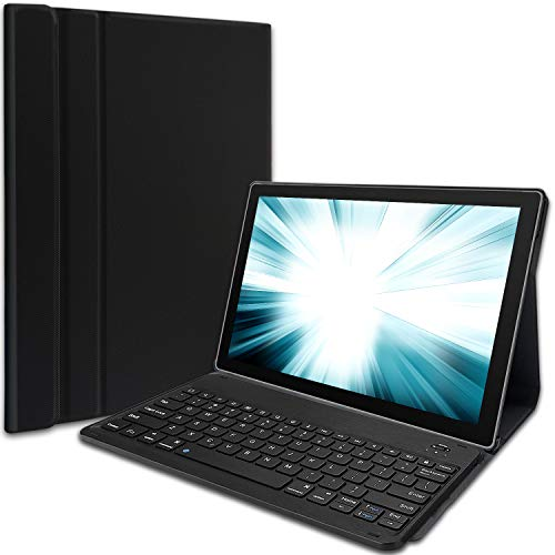 Wineecy Keyboard Case for Surface Pro 7 (2019) /Pro 6 (2018) /Pro 5 (2017) /Pro 4 (2015) 12.3 Inch Tablet, Folio Cover Case with Detachable Wireless Keyboard for Microsoft Surface pro 4/5/6/7, Black