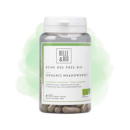 Belle&Bio Reine des Prés Bio 120 Gélules 200 Mg/Jour Détox Certifié Par Ecocert Fabriqué en France