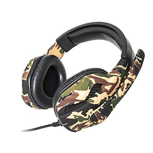 Fransande A1 Manger Poloulet - Auriculares de juego con ventilador de color para PC, auriculares de juego con USB LED, micrófono con reducción de ruido