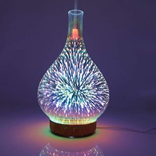Aawsome Nachtlicht - 3D-Feuerwerk, Ultraschall, Diffusor für ätherisches Öl, AU, US, UK, EU - Aromatherapie, feiner Nebel, Luftbefeuchter, Anti-Rutsch-Boden, Zimmer- oder Auto-Dekor A GB