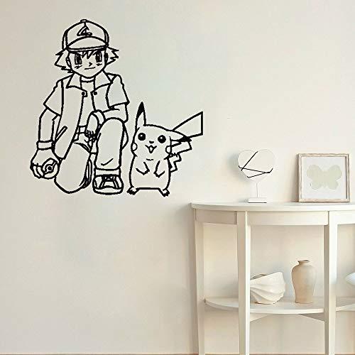 Tianpengyuanshuai Wandaufkleber grau Tomate Wandtattoo Heimtextilien Cartoon Kinderzimmer Aufkleber Anime Jugendzimmer 63x64cm