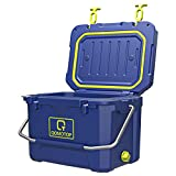 Camping Cooler, 3-Day Ice Retention Cooler, 21-Quart/20L Rotomolded Cooler, 30-Can Capacity(Built-in Bottle Opener, Cup Holder,incl.) Perfect for Camping, Fishing, and Beach Leisure