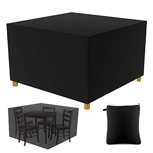 Gartenmöbel Abdeckung Schutzhülle Abdeckhaube Wasserdicht für Tisch, Stühle, Gartenmöbel (125X125X74 cm)