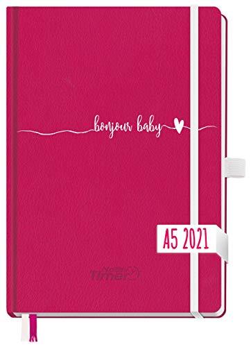 Chäff Wochen-Notiz-Kalender 2021 A5 [Berry] Wochenplaner, Notiz-Timer, Terminplaner, Wochenkalender, Organizer, Terminkalender mit Einstecktasche | nachhaltig & klimaneutral