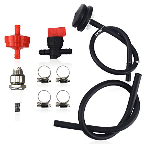 Huthbrother 66-7460 Primer Bulb kit, Compatible with Toro, Lawnboy Primer Bulb with Hose 120-440,44-2750, Have 298090 150 um Fuel Filter & 796112 Spark Plugs (RJ19LM)