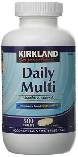 Kirkland Signature Daily Multi Vitamins & Minerals Tablets - 500 Tabs