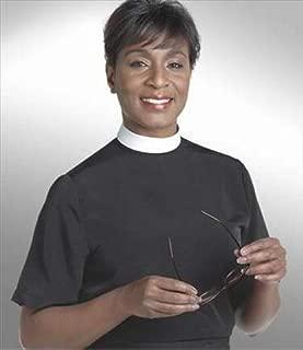 Murphy Robes 38293 Clerical Shirt Women Short Sleev Banded Size 14 Black