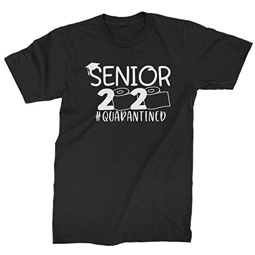 Expression Tees Mens Seniors 2020 Quarantined Toilet Paper T-Shirt Small Black