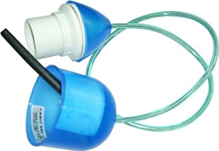 Electraline 70713 Plastic Mount with E27 Socket and 0.6 m Cable Blue