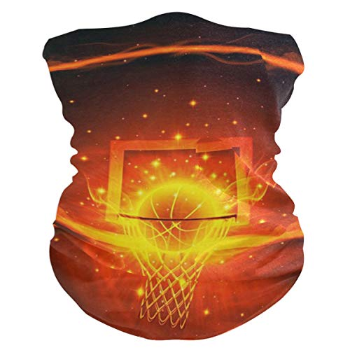Love beautiful Basketball and Fire Face Mask UV Sun Mask Dust Wind...