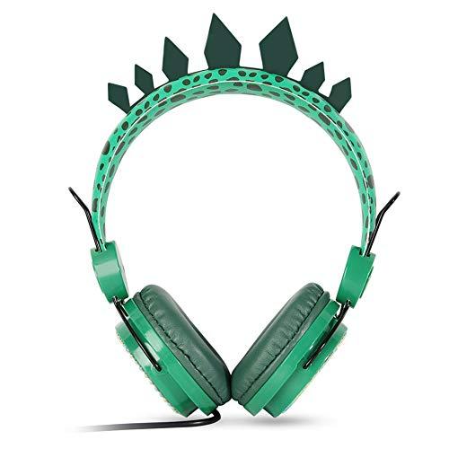 아이폰 남자에 내장된 마이크 스테레오 청소년 휴대용 접이식 공룡 3.5MM 잭 유선 코드에 귀 헤드폰에 대한 어린이 | 청소년 | 소년 | 소녀 | 스마트폰 | KINDLE | 비행기 | 태블릿