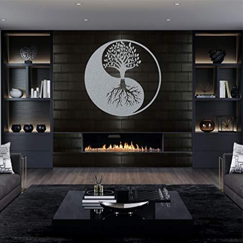 Art mural en métal, arbre de vie, décoration murale en métal