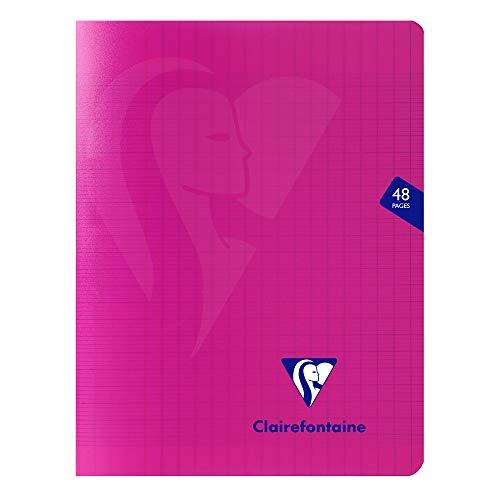 Clairefontaine Mimesys Notizbuch, geheftet, 170 x 200 mm, Séyès, liniert, 48 Seiten, Rosa