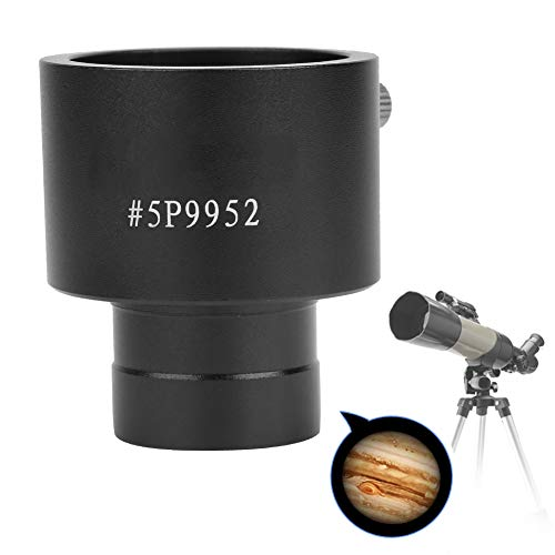 Astronomical Telescope Eyepiece Adapter - 0.965 Inch Mount to 1.25 Inch Mount Adapter - Aluminium Alloy 1.25 Inch T‑Mounted Adapter Ring