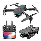 Mini Drohne mit Kamera 4K HD DualCamera für Anfänger FPV WiFi Verbesserter Quadcopter Faltbare Arm Pockets UAV Minidrohne Ferngesteuerte Übertragung Spielzeug für Kinder Erwachsene (Black)