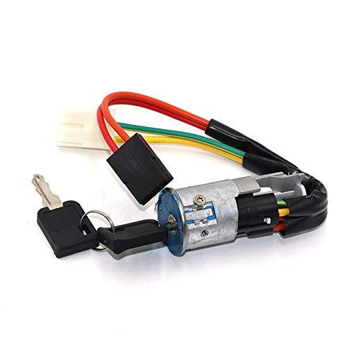 Luckyhfj Juego de bombín de Cerradura de Puerta Interruptor de Encendido Bloqueador de Bloqueador de Bloqueo de Bloqueo/Ajuste for Renault R19 013350 7700805669 (Color : Silver)