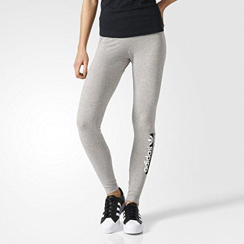 adidas Damen Leggings Tights, Medium Grey Heather, 32