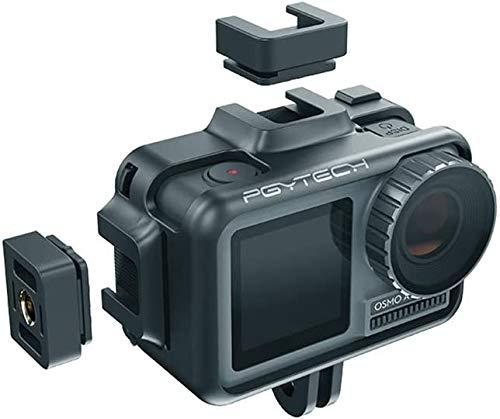 Hensych für PGYTECH Kamera Käfig für OSMO Action,Metallkäfig Schützend Shell Gehäuse Fall Abdeckung Rahmen für OSMO Action Camera
