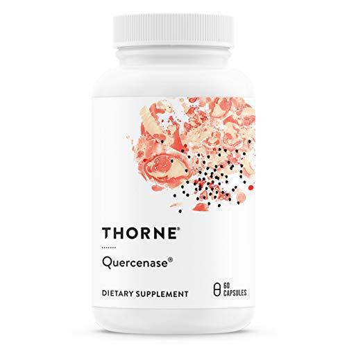 Thorne Research - Quercenase - Nahrungsergänzungsmittel Quercetin-Phytosomen mit Bromelain - 60 Kapseln