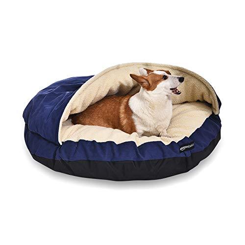 Amazon Basics Extra Large Pet Cave Bed, 45 x 45 x 14 Inches, Blue
