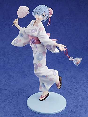 XFLYX Anime Figure for RE Zero Rem Kimono Yukata, 23cm Action PVC Figurine Model Dolls Anime Gifts Toys Model Kits Best Birthday Christmas Halloween Present Decoration,Boxed