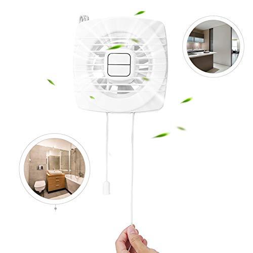 Uitlaatventilator, ontluchtingsventilator, ontluchtingsventilator, uittrekbaar, touw, wandhouder, 12 W, 220 V, voor ramen, keuken, huishouden, ventilator