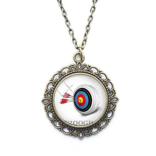 Sport-Bogenschießen-Halskette, Bogenschießen-Geschenk, Sportliebhaber, Bogenschießen-Halskette, Bogenschießen-Geschenk, MT375