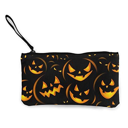 Moneda de lona, bolso de fiesta de Halloween, bolsa de cosméticos de viaje, multifunción, bolsa de maquillaje, bolsa de teléfono móvil, paquete de lápices con asa