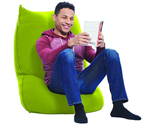 Yogibo Zoola Short Outdoor Bean Bag Chair, Single Seat Beanbag, Water Resistant Deck Furniture, Cozy Patio Lounger, Portable, Lightweight, Grass