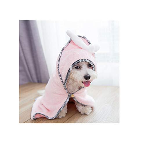 Schnelltrocknender Bademantel Hund mit Hut, Hundebademantel, das als Hundedecke...