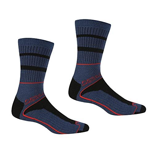 Regatta Samaris Herren Socken für 3 Jahreszeiten, Herren, Socken, RMH045, DarkDenim/CajunOrange, M