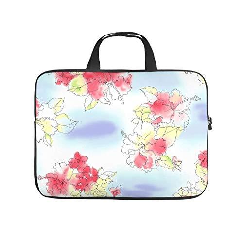Flower Plants Laptop Bag Scratch Resistant Laptop Protective Case Funny Notebook Bag for University Work Business