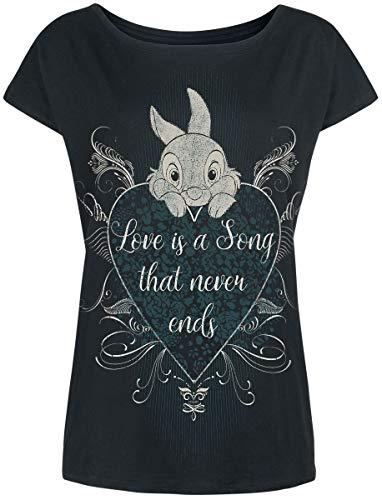 Disney Klopfer Love Is a Song Damen T-Shirt Schwarz
