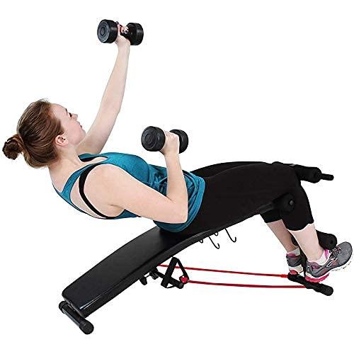 MUPAI Banc Musculation avec 2 Haltères et 2 Bandes de...