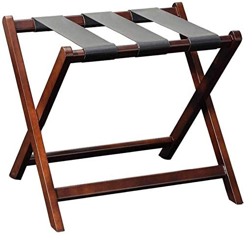 GDFEH Luggage Stand Folding Luggage Rack Solid Wood Hotel Folding Luggage Rack, Hotel Suitcase Holder Travel Bag Holder Luggage Storage Racks Luggage Stand For Bedroom L62*W47*H55cm