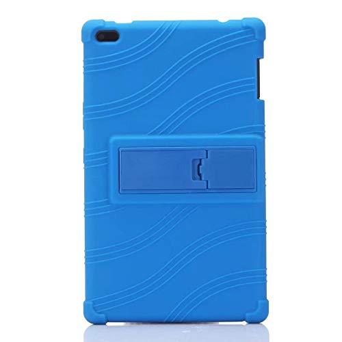 Funda de Stand de Silicona Infantil a Prueba de Golpes para Lenovo TAB4 Tab 4 8'TB-8504 TB-8504 N/X/F Tablet Funda Funda Funda-Azul Oscuro