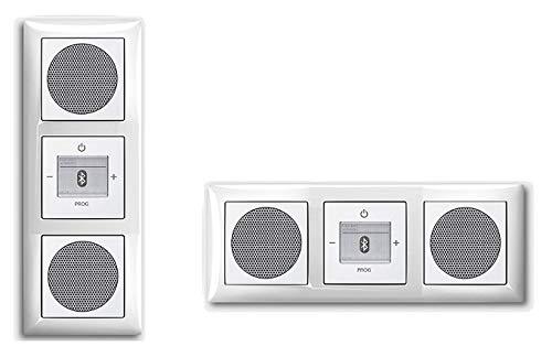 Busch Jäger Unterputz UP Bluetooth Radio 8217 U (8217U) Balance SI (sehr edel) Komplett-Set // Radioeinheit + 2 x Lautsprecher + 3-fach Rahmen 1723-914 + Abdeckungen