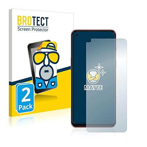 BROTECT 2X Entspiegelungs-Schutzfolie kompatibel mit OnePlus Nord 2 Bildschirmschutz-Folie Matt, Anti-Reflex, Anti-Fingerprint