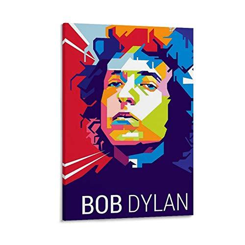 JNFB Póster de Art Bob Dylan con pintura decorativa en lienzo para la pared del salón, póster para el dormitorio, 20 x 30 cm