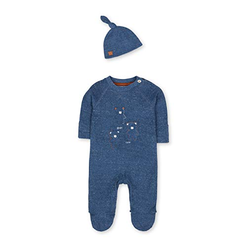 Mothercare Unisex Baby Nb Ip Towelling Aio and Hat Mütze, Schwarz (Blue 128), 12-18 Months (Size:86)