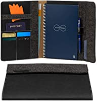 Rocketbook Smart Notebook Folio Cover - 100% Recyclable, Biodegradable Cover with Pen Holder, Magnetic Clasp & Inner...